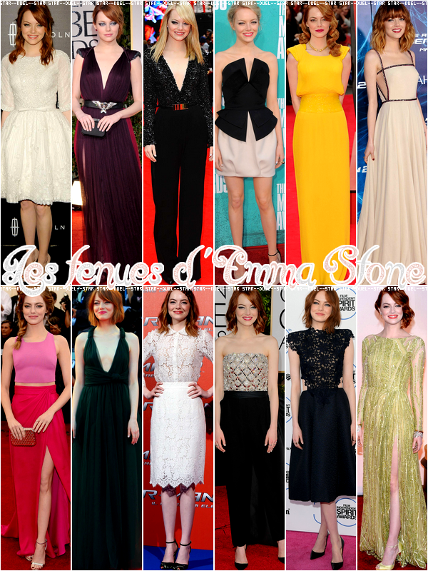 ♥VS Tenues Emma Stone ♥Création : Star--Duel--Star