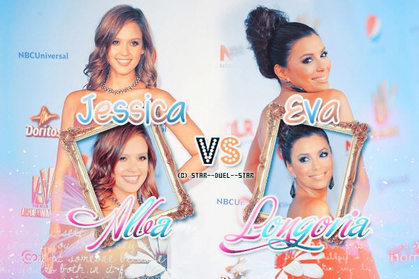 ♥Jessica Alba VS Eva Longoria ♥Création : funny-glee