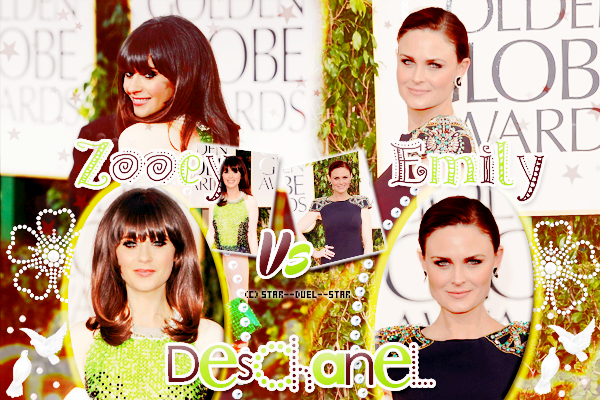 ♥Zooey Deschanel VS Emily Deschanel ♥Création : great-arrow