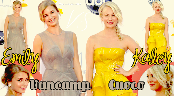♥Emily Vancamp VS Kaley Cuoco ♥Création : Star--Duel--Star