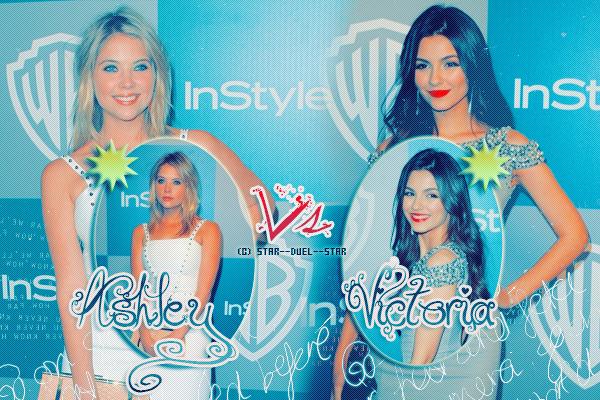 ♥Ashley Benson VS Victoria Justice  ♥Création : Funny-Glee