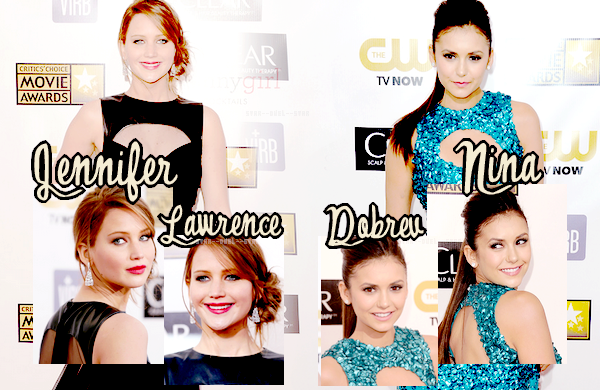 ♥Jennifer Lawrence VS Nina Dobrev ♥Création : Star--Duel--Star