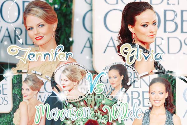 ♥Jennifer Morrison VS Olivia Wilde ♥Création : Sambe01