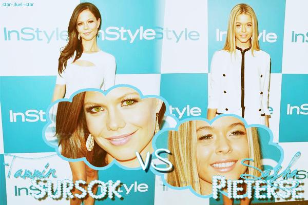 ♥Tammin Sursok VS Sasha Pieterse ♥Création : INeverStoppedLovingYou