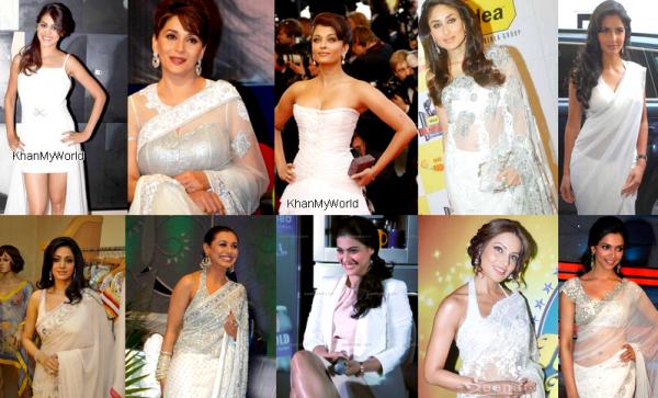 Quelle est l'actrice qui lui va le plus bien le blanc ?