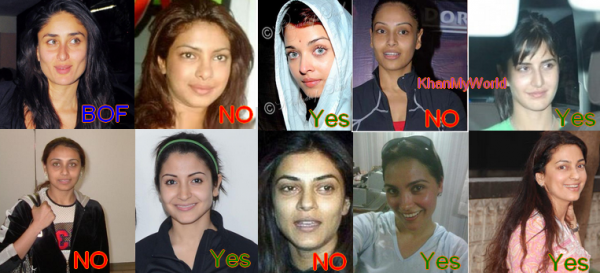 Les actrices de Bollywood sans maquillage ( PART 1 )
