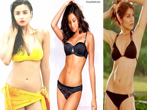 Les actrices de Bollywood en Bikini !