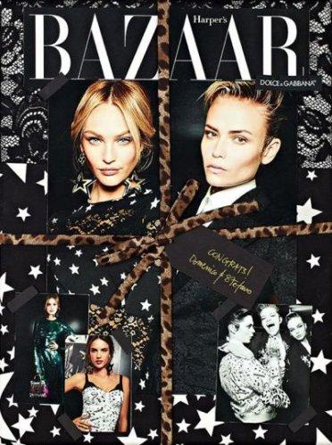 Cover to Celebrate Harper's Bazaar Russia's 15th Anniversary - Alessandra est dessu et (Candice je crois ) MDR
