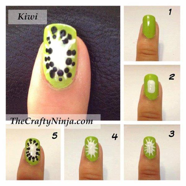 [Nail-art 3] Kiwi