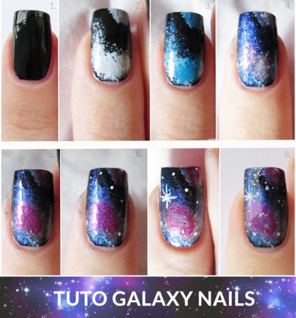 [Nail-art 10] Galaxy