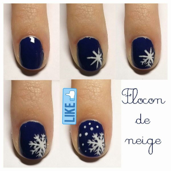[Nail-art 14] Flocon de neige