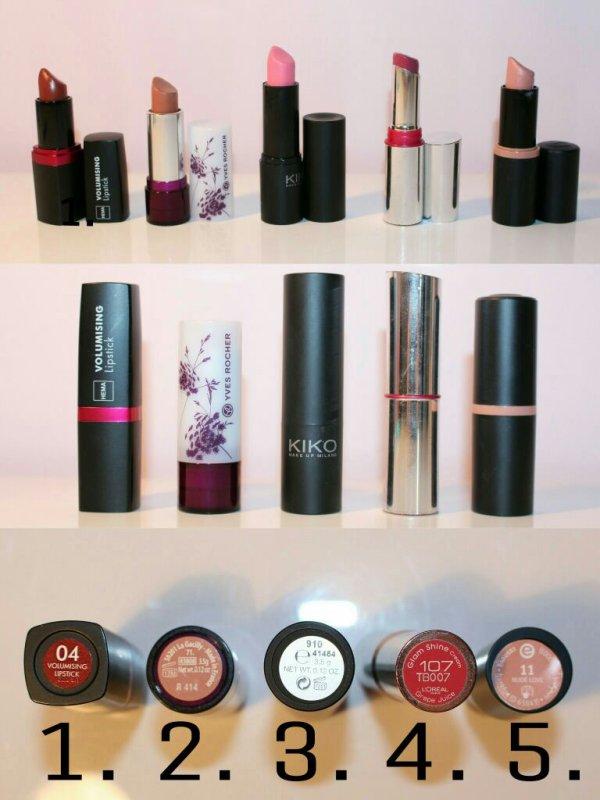 [Lèvres 5] Mes rouges à lèvres préférés