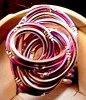 Bagie en fil aluminium dans les tons roses