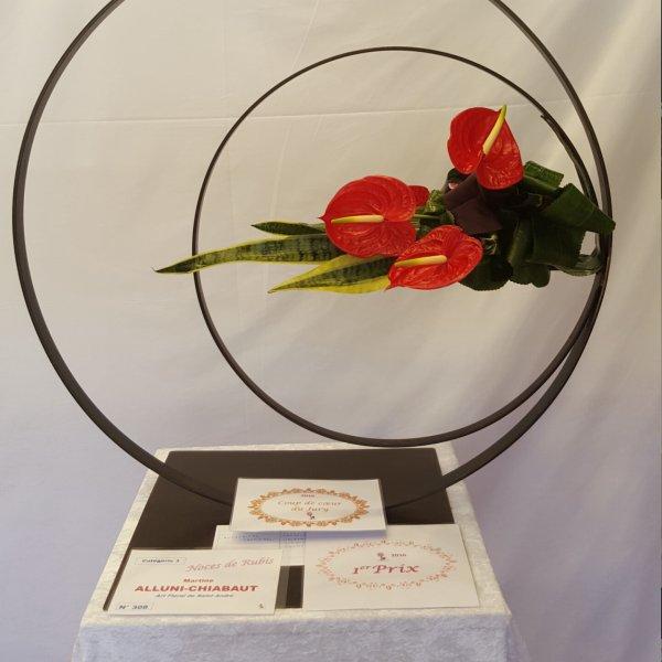 1er prix dans sa catégorie au concours de Théoule s/mer réalisé par l'une de mes élèves