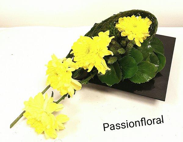 Composition avec des Chrysanthèmes