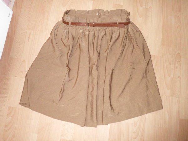 jupe haute marron