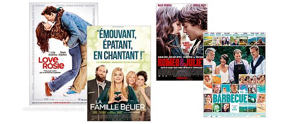 Love, Rosie; La famille Bélier; Roméo et Juliette; Barbecue.