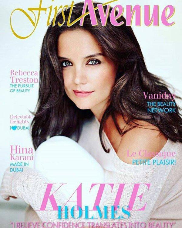 Katie en couverture de First Avenue Magazine