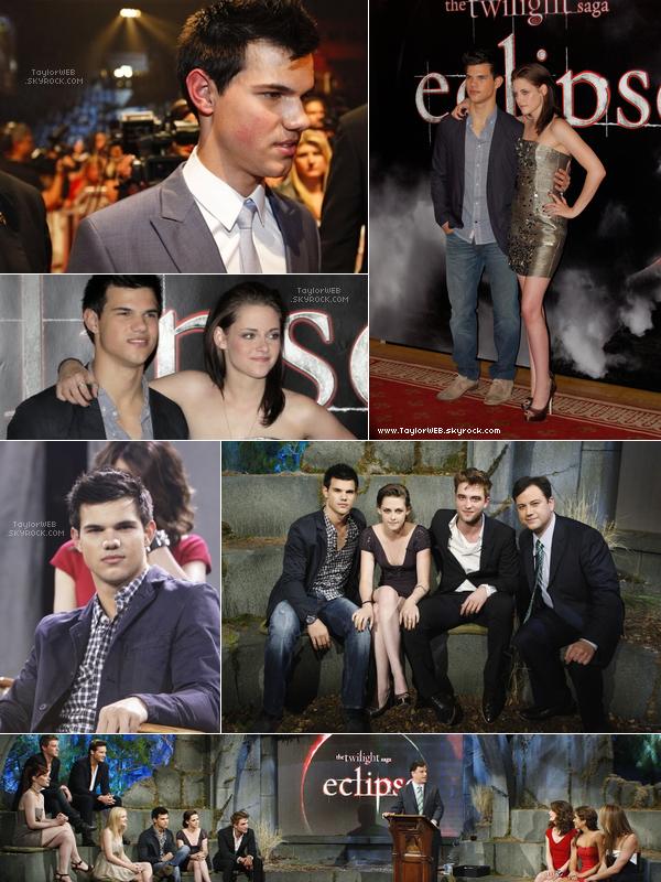 . 21.06.10___Taylor & Kristen étaient à un événement fan pour la promo d'Eclipse à Estocolmo en Suède Puis en juin, Taylor a tourner avec le reste du cast d'Eclipse pour l'émission « Jimmy Kimmel » .