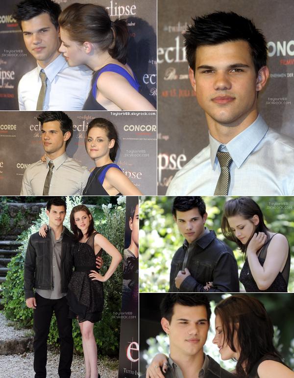 """. 18.06.10___Taylor & Kristen a un """"fan event"""" à Berlin puis un photocall pris lors de la promo en Italie ."""