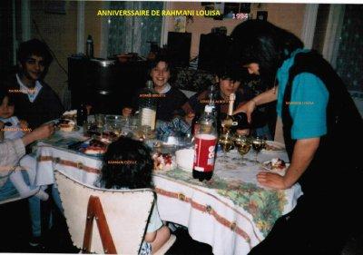 ANNIVERSAIRE DE LOUISA en 1994