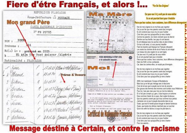 Fiere d'etre Français, et Alors.....