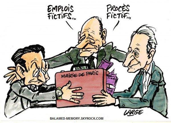 HUMOUR DE LA SEMAINE : Emplois fictifs... Procès fictif...