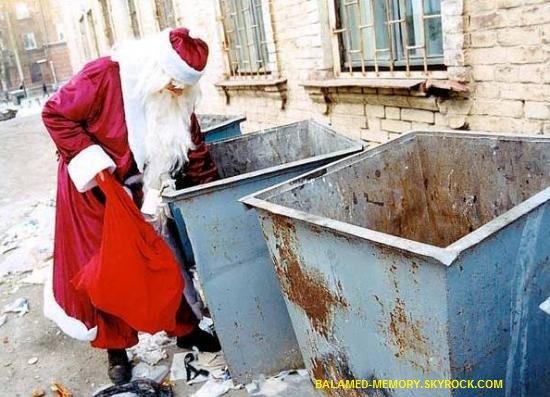 HUMOUR DE LA SEMAINE  : Le Père Noël fait les ordures