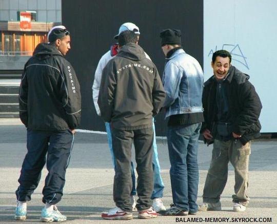 HUMOUR DE LA SEMAINE : Sarkozy en banlieue