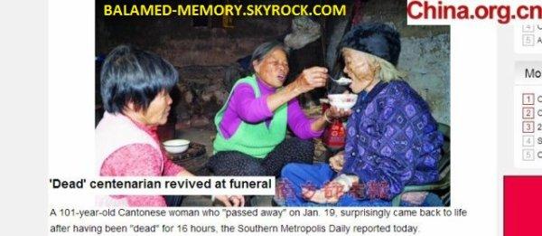 INFO-INSOLITE : La défunte se réveille à ses funérailles: » Vous êtes là? »