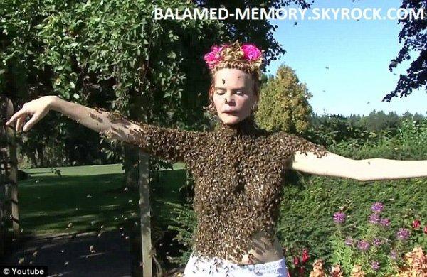 INFO-INSOLITE : Elle danse avec 12'000 abeilles sur le corps (vidéo)