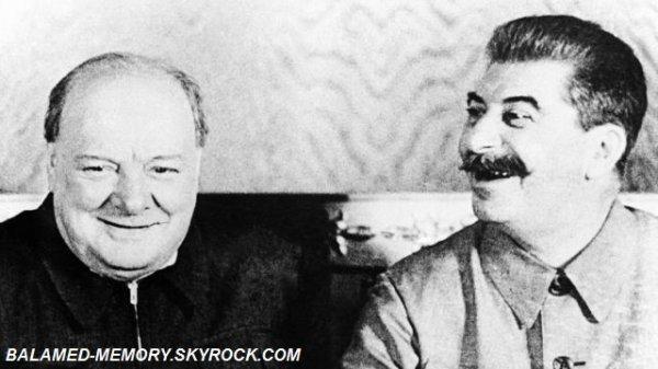 INFO-INSOLITE : Quand Churchill et Staline levaient le coude ensemble