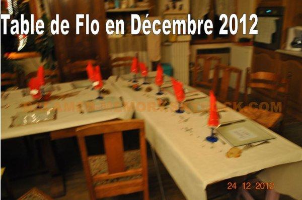 PERSO : TABLE DE FLO en décembre 2012