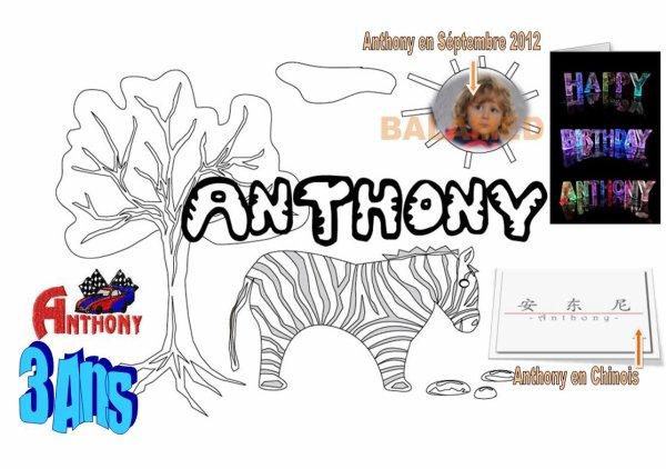 PERSO :  Anthony  3 ANS se 23 Février 2014