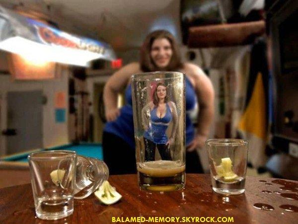HUMOUR : Les effets de l'alcool sur les femmes