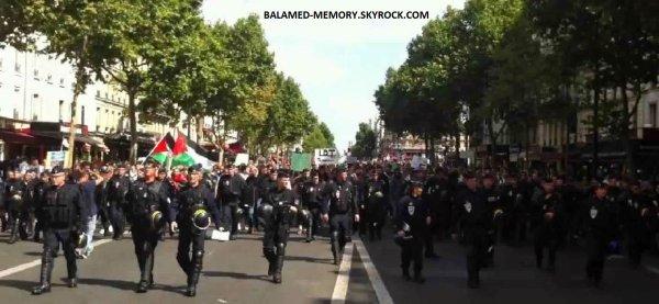 Actualités/Fait divers : Les CRS rejoignent les manifestants pour Gaza