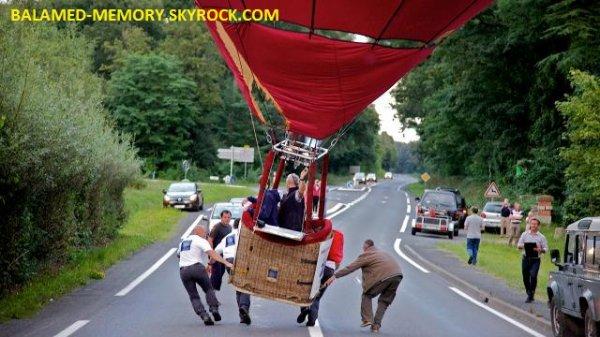 INFO-INSOLITE : Une montgolfière très près de la route à Parcé-sur-Sarthe (vidéo)