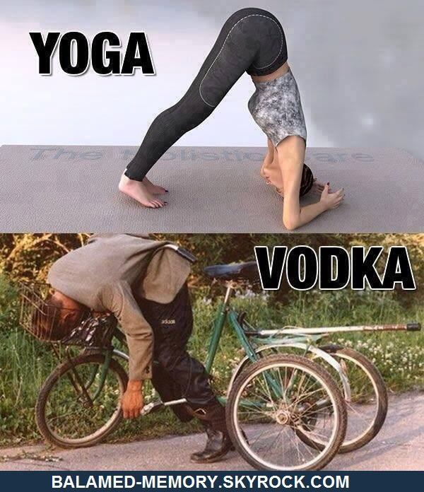 HUMOUR : Yoga vs Vodka