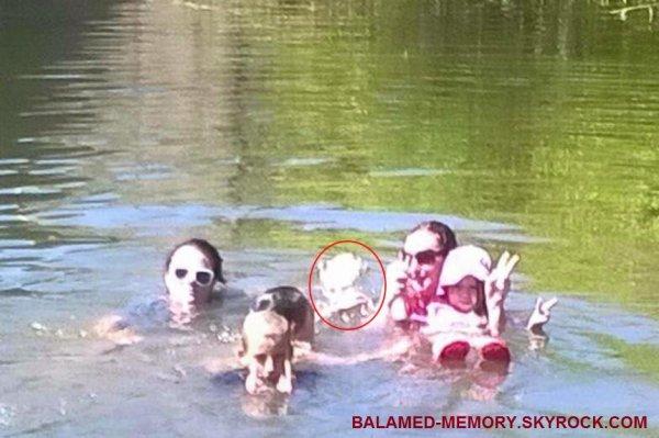 FANTÔME/PARANORMALE/SOCIÉTÉ : Un poltergeist photographié lors d'une baignade ?