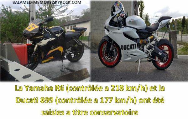 FAITS DIVERS : Col d'Évires : 2 motards à 218 km/h et 177 km/h au lieu de 90 km/h