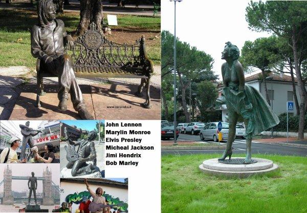 Le statue delle celebrità nel mondo