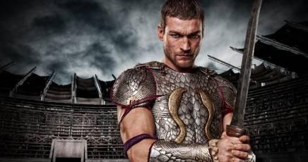 Spartacus Andy Whitfield guerriero nella vita e nella finzione combatte contro.....................