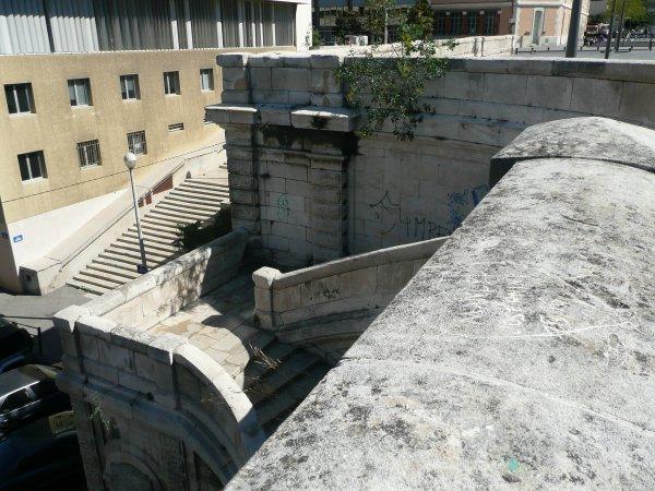 escalier menant de la Major à la rue de Mazenod