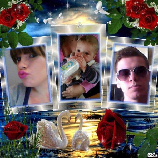 la mere de mon fils, mon fils matthiew que jaime et moi son père =) je t'aime matthiew