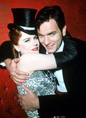 Présentation des personnages : Satine (Nicole Kidman) et Christian (Ewan McGregor) les deux personnages principaux.