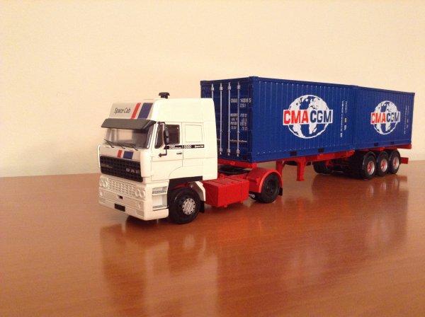 DAF 3300 + Semi-remorque container