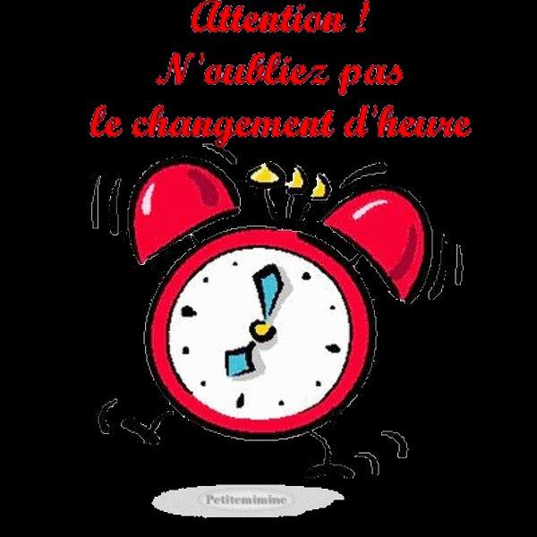 attention changement d heure
