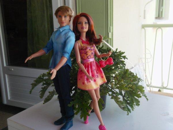 Barbie et Ken Fashion , un joli couple glamour , vous souhaitent un agréable lundi