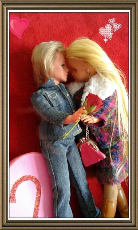 Jerry a pensé à offrir une rose à CAthy pour la journée des amoureux