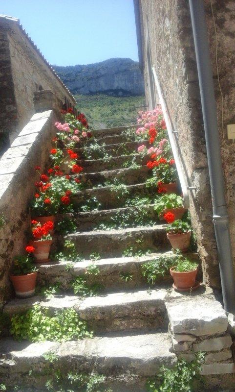 Une belle invitation aux vacances ; Navacelles. .....